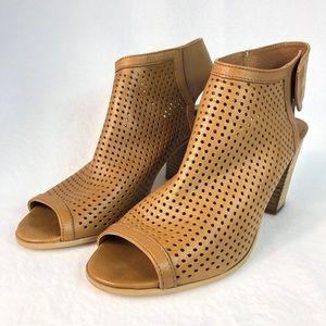 Steve Madden Size 10 Leather Peep-toe Booties